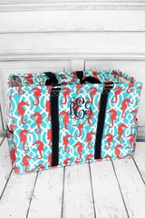 Hold Your Seahorses Collapsible Haul-It-All Basket with Lid