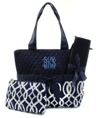 Vine Quilted Diaper Bag
