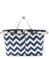 Chevron Insulated Market Tote with Lid