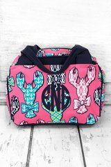 Lively Lobsters Insulated Bowler Style Lunch Bag