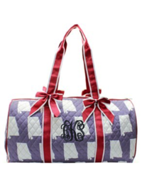 Alabama Quilted Duffel Bag