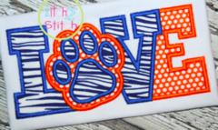 Paw Print LOVE Appliqué Designs