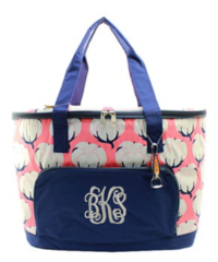 Cotton Fields Insulated Cooler Tote