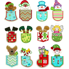 Christmas Pocket Appliqué Designs