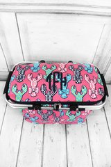 Lively Lobsters Insulated Market Tote with Lid