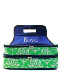 Bloom Damask Insulated Double Casserole Tote