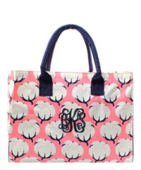 Cotton Fields Wide Tote Bag