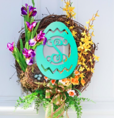 Wooden Easter Egg Monogram