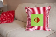 Christmas Holiday Stripe Pillow Cover