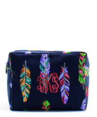Fancy Feathers Cosmetic Bag