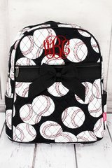 Baseball Quilted Large Backpack