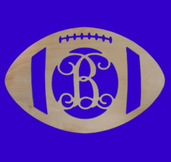 Wooden Football Monogram