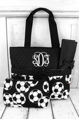 Soccer Quilted Diaper Bag