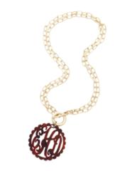 Scallop Acrylic Monogram Necklace