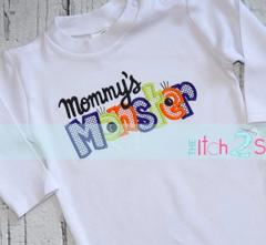 Mommy's Monster Appliqué Design