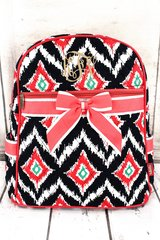 Electric Ikat Quilted Large Backpack