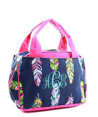 Fancy Feathers Insulated Bowler Style Lunch Bag