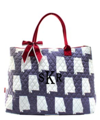 Alabama Quilted Large Shoulder Tote