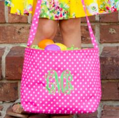 Pink Dottie Easter Bucket