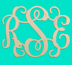 Wooden Vine Monogram