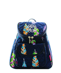 Fancy Feathers Quilted Petite Backpack