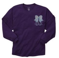 Monogrammed Seersucker Bow Pom Pom Jersey Pullover