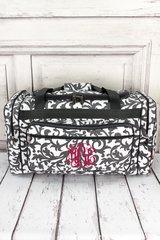 "Gray Ivy Damask 23"" Duffel Bag"