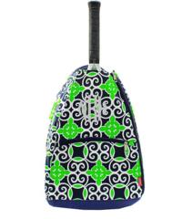 Navy & Green Celtic Swirl Tennis Racket Bag