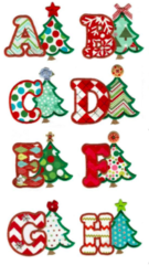 Christmas Tree Appliqué Alphabet