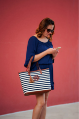 Chandler Stripe Tote