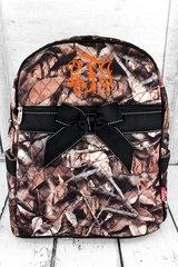 Natural Camo Quilted Large Backpack