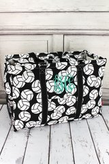 Volleyball Collapsible Haul-It-All Basket with Lid