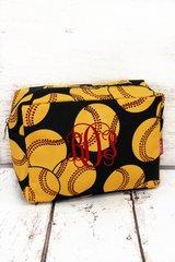 Softball Cosmetic Bag
