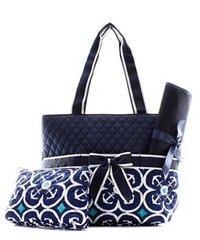 Anchor Geo Quilted Diaper Bag