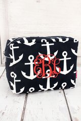 Navy Anchors Away Cosmetic Bag
