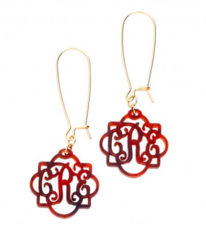 Fancy Monogram Earrings