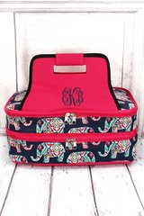Preppy Elephant Insulated Double Casserole Tote