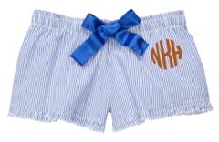 Monogrammed Seersucker Bitty Shorts