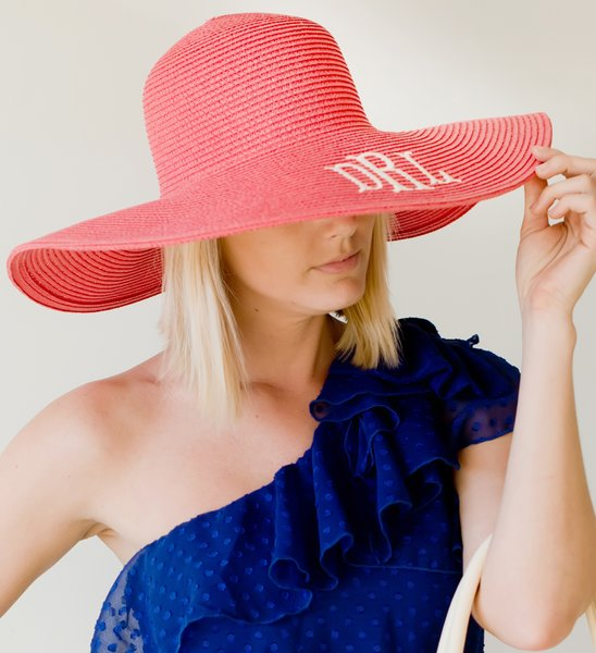 Monogrammed Floppy Hat Subtly Southern Personalized