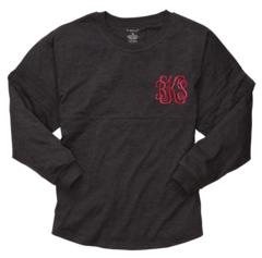 Monogrammed Pom Pom Jersey Pullover