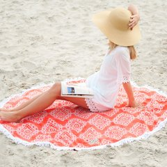Coral Cove Sand Circle Beach Towel