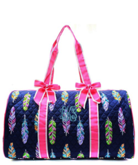 "Fancy Feathers 21"" Quilted Duffel Bag"