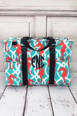 Hold Your Seahorses Large Organizer Tote