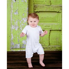Boys Short Sleeve Romper for Appliqué
