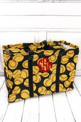 Softball Collapsible Haul-It-All Basket with Lid