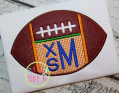 Football Monogram Appliqué Design