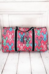 """Lively Lobsters 21"""" Quilted Duffel Bag"""