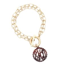 Scallop Acrylic Monogram Bracelet