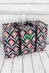 Electric Ikat Collapsible Haul-It-All Basket with Lid