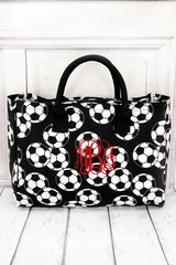 Soccer Wide Tote Bag